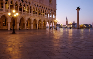 early morning view of Piazza San Marco